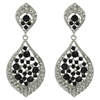 Karina Earrings - Black (Silver Plated)