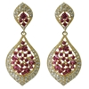 Karina Earrings - Fuchsia