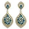 Karina Earrings - Blue Zircon