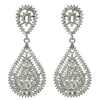 Kathrina Earrings - Clear (Silver Plated)