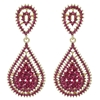 Kathrina Earrings - Fuchsia (Gold Plated)