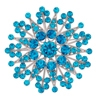 Flower Brooch - Blue Zircon